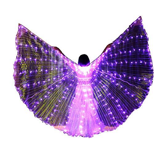 SXWBL Buikdans-led-vlindervleugels, kerstfeest-uitvoering podiumspannisieten, veilig en gemakkelijk te dragen T-podium met Halloween-dans