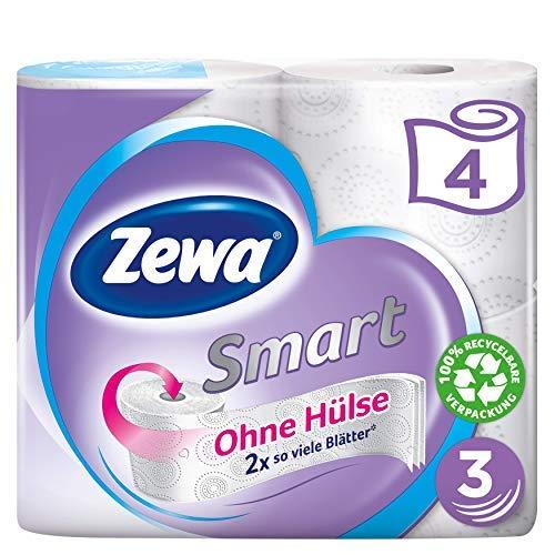 Zewa Smart Toilettenpapier Ohne Hülse, Großpackung Mit 36 Rollen (9x4x300 Blatt)