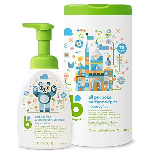 Babyganics Cleaning Set - Hand Sanitizer, All Purpose...