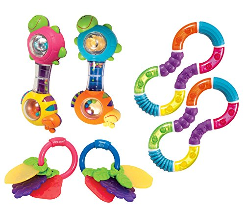 Why Choose Becker's School Supplies Infant Rattle Set, (Set of 6)