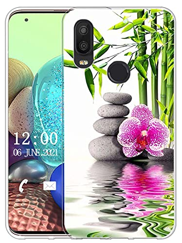 Sunrive Funda Compatible con bq Aquaris X2/X2 Pro, Silicona Slim Fit Gel Transparente Carcasa Case Bumper de Impactos y Anti-Arañazos Espalda Cover(X Flor)