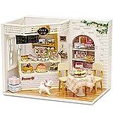Fsolis Miniatura casa delle Bambole con mobili,3D Fai da Te Kit di Dollhouse di Legno Oltre a Prova di Polvere e Il Movimento della Musica Regalo Creativo