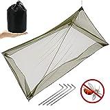 MAIKEHIGH Mosquitero para Camping Cama Individual, Red Antimosquitos Insectos Ligeros Compacta y Portátil para Viajes, Bolsas de Dormir, al Aire Libre