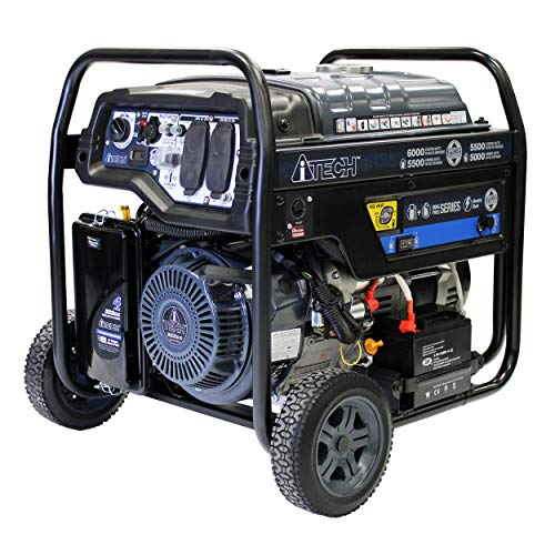 A-ITECH AT10-260001 6000 Watt Portable Dual Fuel Generator with Electric Start, CARB Compliant