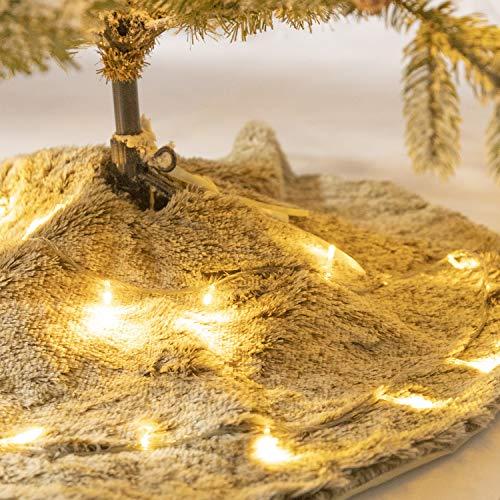 """Zinsale 47"""" Braun Plüsch Weihnachtsbaum Rock Luxus Kunstpelz Runden Weihnachtsbaumschmuck Christbaumständerhüllen Ornament"""