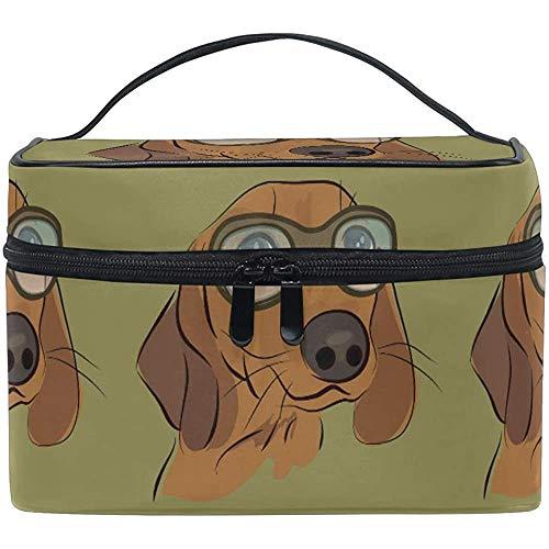 Trousse de Maquillage Golden Retriever Travel Cosmetic Bags Organizer Train Case Toiletry Make Up Pouch