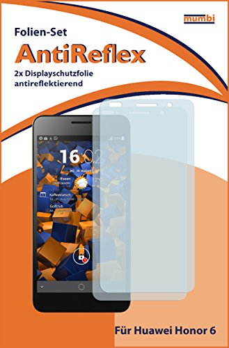 mumbi Schutzfolie kompatibel mit Huawei Honor 6 Folie matt, Displayschutzfolie (2X) - 2