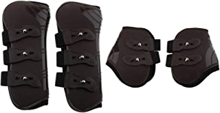 2 Pair Pony Wear Horse Leg Boots Hind Front Leg Tendon Jumping Protective Wrap