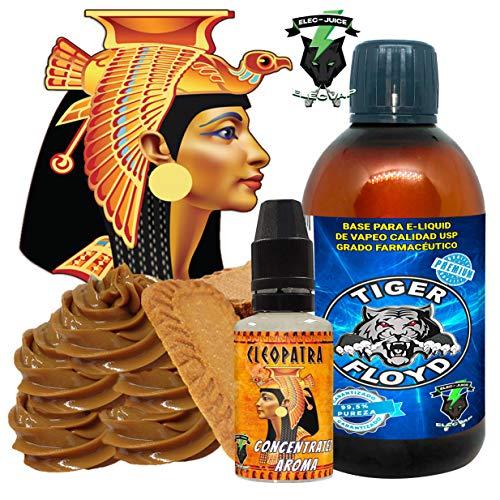 Kit Alquimia Vapeo  cleopatra Aroma Concentrado + Base Vapeo - 70VG/30PG - 100 ml   Sin Nicotina: 0mg   Para Vaper Cigarrillo Electronico   Sabor Flavour