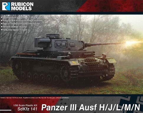 ルビコンモデル 1/56 ドイツ軍 3号戦車 H/J/L/M/N型 プラモデル RB0092