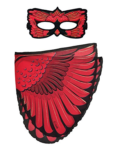 Dreamy Dress-Ups 66315 masker + wings, vleugels + masker, cardinal, vogel roodkardinaal cardinalis cardinalis