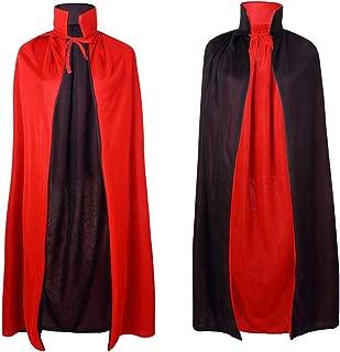 Halloween Cape for Women Men Unisex Adult, Reversible Halloween Christmas Cosplay Costume Vampire Magician Cloak