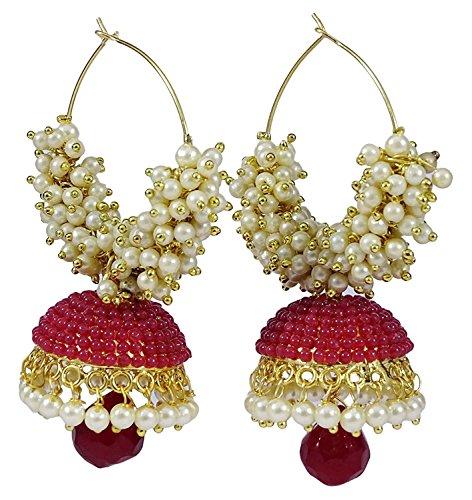 Crujientes moda bollywood estilo tradicional de la India Joyería Stud Pendientes para las mujeres