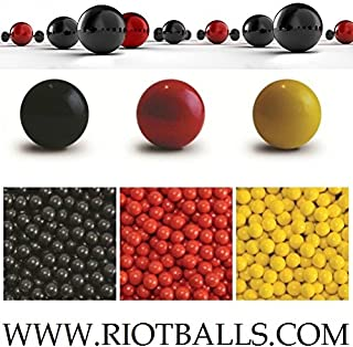 Box of 500 Balls Red Count 0.68 Cal. PVC Nylon Riot Balls Self Defense Target Practice Paintballs Paintball Games …