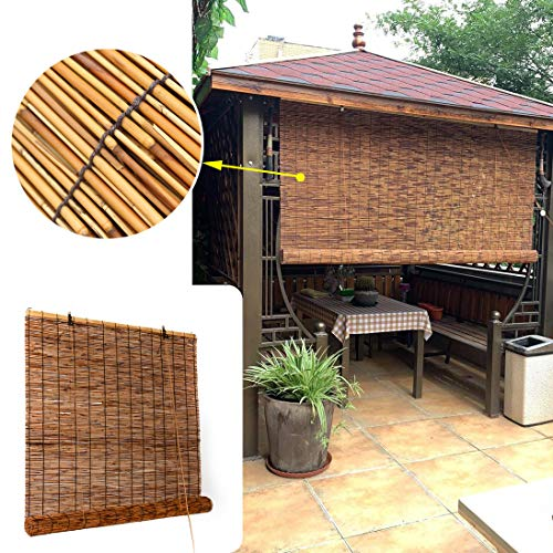 LMDX Bamboo Blinds Shade - Roll Up Window Blind,Ventilation,Privacy Screen,Home Kitchen Patio Outdoor Sunshade,Easy To Hang,Wooden Venetian Blind