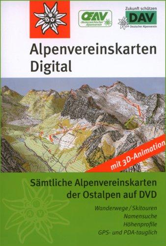 Alpenvereinskarten-Karten der Ostalpen: Sämtliche Alpenvereinskarten der Ostalpen auf DVD