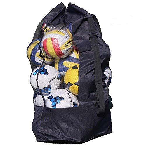 YJZQ Bolsa de viaje de malla impermeable extra grande, bolsa de deporte de alta resistencia, bolso de hombro, bolso de baloncesto, voleibol, fútbol, bolsa de con cordón para 10 - 15 bolas