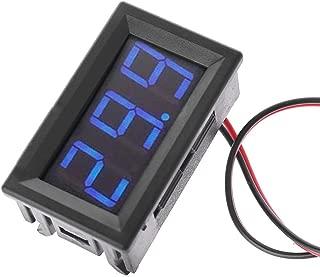 DDlong DC 5V-120V Digital Voltmeter LED Display Panel 2 Wire Volt Voltage Test Meter for 12V 24V 96V Electromobile Motorcycle