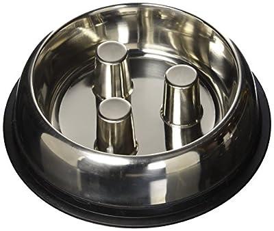 QT Dog Stainless Steel Brake-Fast Bowl, Medium, 64 Oz