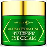 Ultra-Hydrating Hyaluronic Eye Cream - Reduce Dark Circles, Puffiness, Under Eye Bags, Wrinkles & Fine Lines for Men & Women Anti Aging Day and Night Treatment - Sensitive Skin Restorative