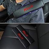 Gemmry 2 Piezas Almohadillas para Cinturón De Seguridad, Logotipo De La Marca De AutomóViles Hombro Cinturón De Seguridad,Cubierta De Seguridad para Ford Focus Car Styling Interior Accesorios