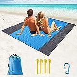 Esterilla Playa,200 x 210 cm Manta Picnic Impermeable,Alfombra de...
