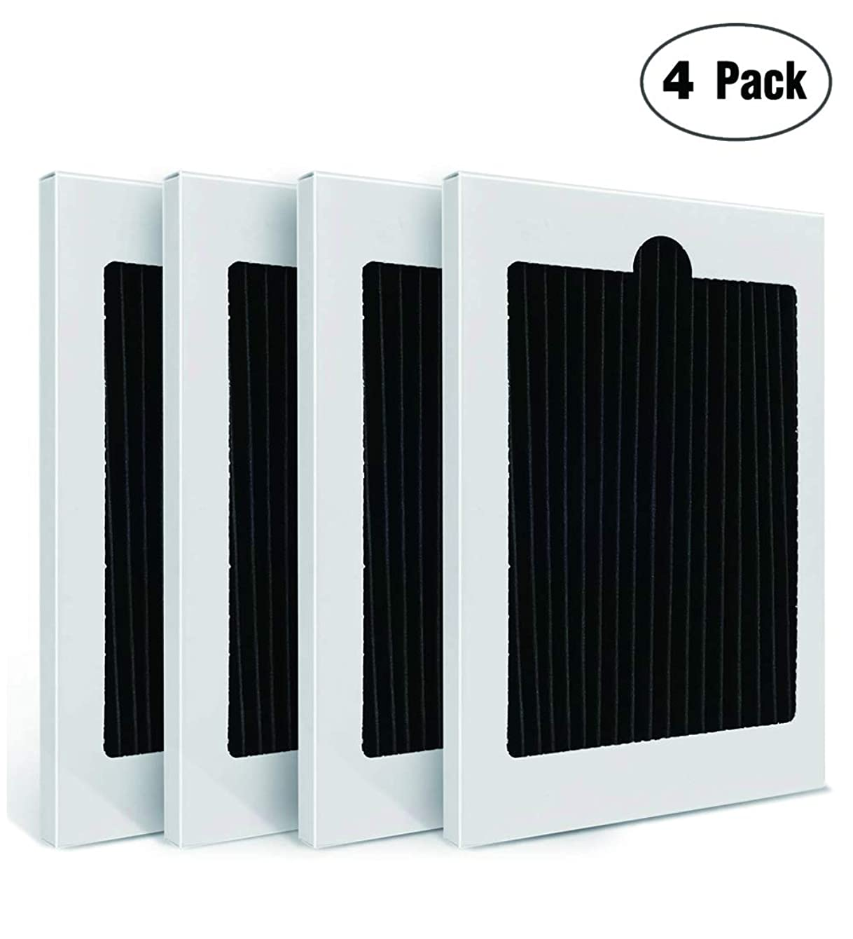 4-Pack BRIGHTHSHOW Refrigerator Air Filter Replacement - Fits for PAULTRA Pure Air Ultra Electrolux EAFCBF 242047801,242061001,7241754001