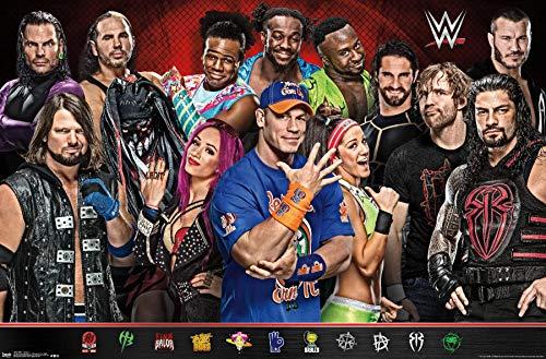 Trends International WWE - Group 17 Wall Poster, 22.375' x 34', Unframed Version