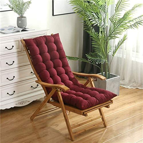 Lanrui Cojín reclinable para silla de jardín, cojín de respaldo alto con lazos, almohadillas para silla de jardín y en casa, espuma suave lavable