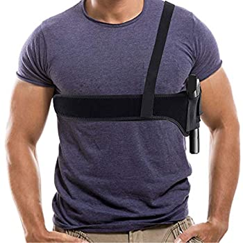 Shoulder Gun Holster,Deep Concealment Shoulder Holster,9mm Glock Holsters for Pistols,Fits Subcompact and Compact Pistols for S&W Bodyguard,M&P Shield,Glock 19 26 42 43 Ruger LCP LC9
