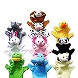 Happy Cherry - (Set de 10 Marionetas de Mano Animal Juguete para Niños Kids - Animales( Panda, Elefante, Pato, Perro,ect.)