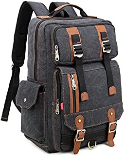 Canvas Hiking Travel Daypacks School 16 inch Laptop Backpack Rucksack 30L