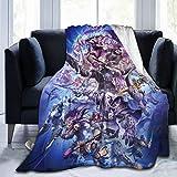FashionDIY Game Storm Hero World Warcraft Manta de forro polar ultra suave, acogedora manta cálida de felpa para sofá cama de 152 x 127 cm