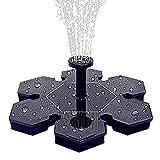 JUNSHANG Sprinkler Sprinkler Sprinkler, Fuente Flotante Solar, Fuente en Miniatura DC Bomba de Agua Agua al Aire Libre Spray Decoración del jardín,Black
