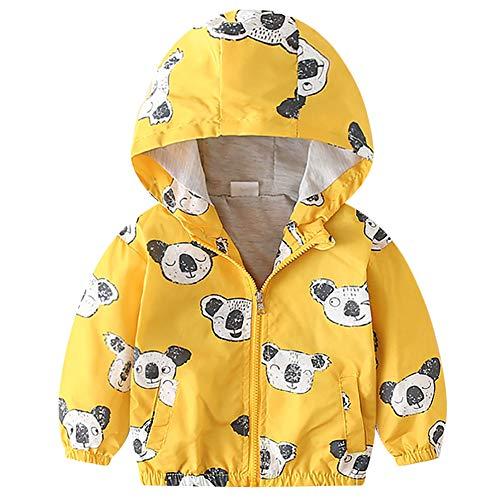Chaqueta con capucha para bebé, niño o niña, chaqueta con capucha, abrigo de invierno, primavera, dibujos animados, resistente al viento, con bolsillos 05 12-18 Meses