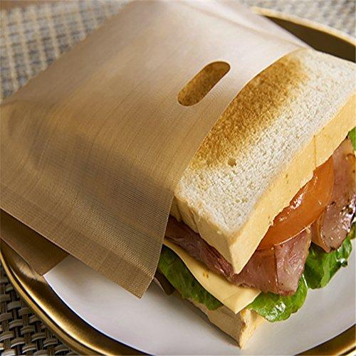 HSXQQ 5 PCS Toaster Taschen, Sandwich Toaster Tasche Wiederverwendbare Non-Stick Toastie Snack Toast Taschen Taschen können in Toaster verwendet Werden, Backofen, Mikrowelle Heizung