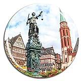 Weekino Germania Romer Square Francoforte Calamità da frigo 3D Cristallo Bicchiere Tourist City Viaggio Souvenir Collezione Regalo Forte Frigorifero Sticker