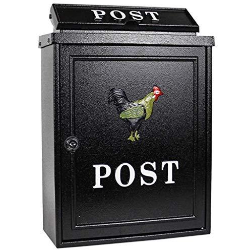 Montaggio a parete Smart Parcel Drop box nero per garantire pi/ù internet consegne di grandi pacchetti di consegna