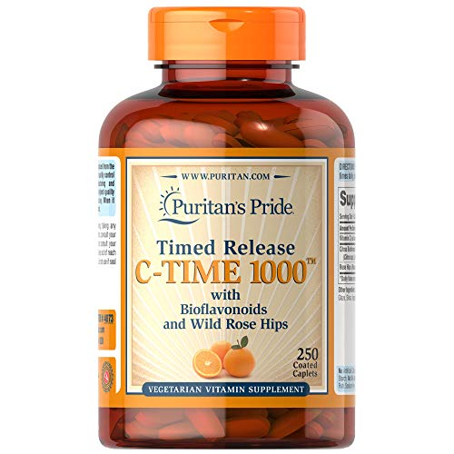 Puritans Pride Vitamin C 100mg with Rose Hips for Immune Supports by Puritan's Pride to Support a Healthy Immune System 250 Caplets