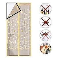 磁気スクリーンドアカーテン、ハンズフリーアンチモスキートメッシュネットアンチ昆虫フライバグ磁気蚊カーテン、キッチン,3,110*200cm