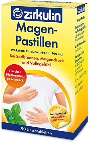Zirkulin Magen-Pastillen, Lutschtabletten gegen Sodbrennen, Magendruck und Völlegefühl,...