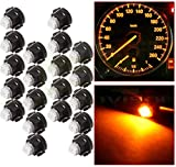 GlobeLED 20 Pack Blue T3 Wedge 1-3528 SMD LED 74 37 286 18 Dashboard Gauge Light Bulbs 12V T3 1SMD 1210 Dashboard light Car Cluster Neo Wedge LED Bulbs Dash A/C Climate Lights yellow