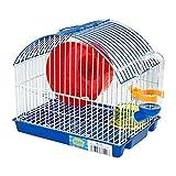DZL jaulas Hamsters pequeña metalícos Jaula para Hamster Medidas:21.5X16X19cm (Azul)
