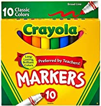 Crayola Broad Line Markers, Classic Colors 10 Each (Pack of 24)