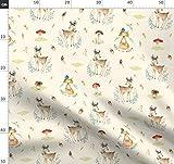 Hirsch, Fuchs, Kinderzimmer, Junge, Wasserfarben, Wald,