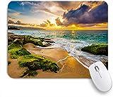 VAMIX Medium Mauspad,Eine schöne hawaiianische Strand-Sonnenuntergangslandschaft,Laptop Tischunterlage wasserdichte Schreibunterlage für Büro Gaming rutschfest Mauspads 240mm x 200mm
