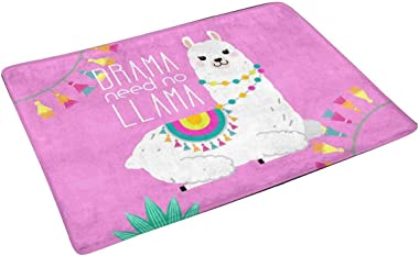 Llamaste Namaste Funny Quotes and Llama Doormat Non-Slip Indoor and Outdoor Door Mat Rug Home Decor, Entrance Rug Floor Mats