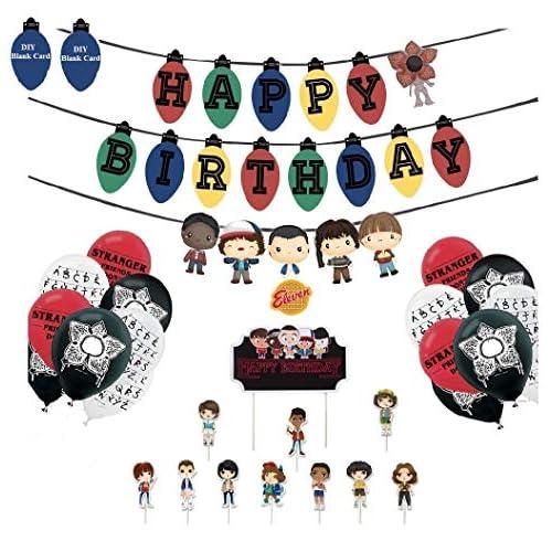 Ginkago Palloncini Banners Decorazioni Set per Compleanno, 30 Palloncini & Banners & Toppers Set per Buon Compleanno Forniture per Feste di Compleanno per Bambini