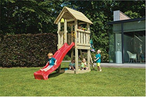 Spielturm Kiosk - Blue Rabbit 2.0 - Podesthöhe 150cm mit Rutsche 300 cm Pfosten 9x9cm