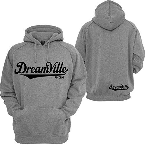Dreamville Records Hoodie J Cole World Born Sinner TDE Rattpack Rap Music Hooded Sweatshirt Grey